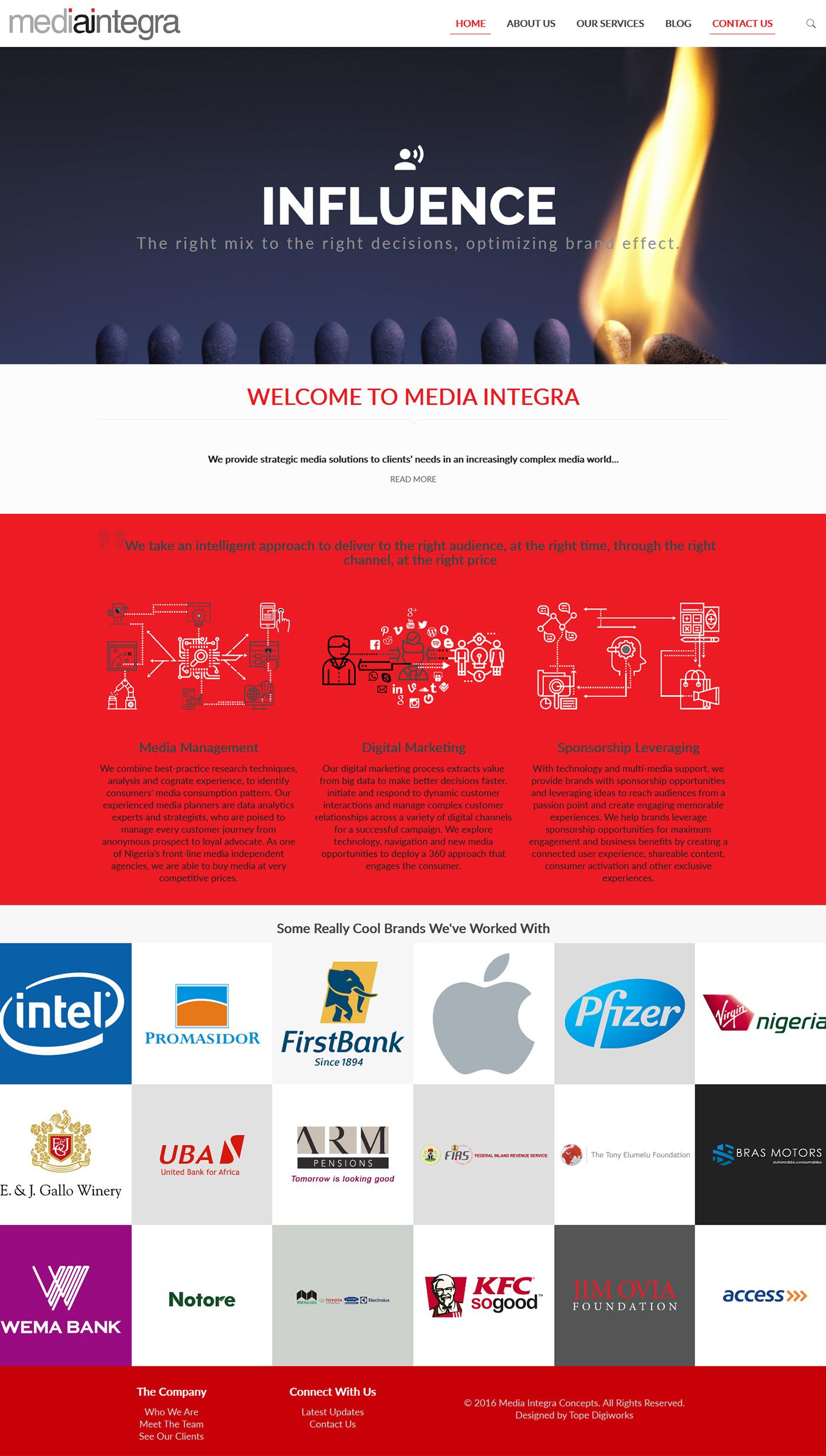 Media Integra Website Design | hoverGENIE