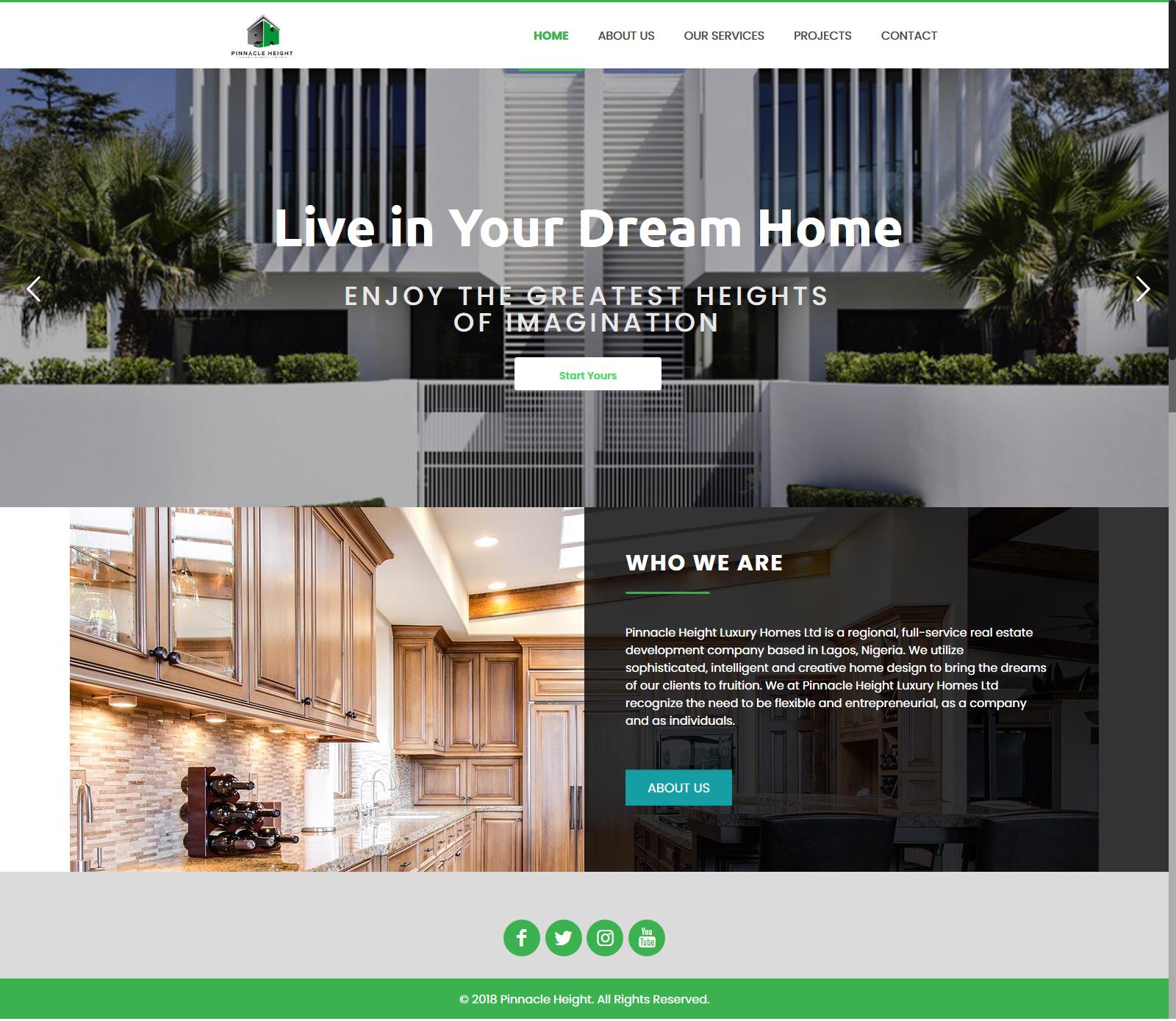 Pinnacle Height Homes Website Design | hoverGENIE